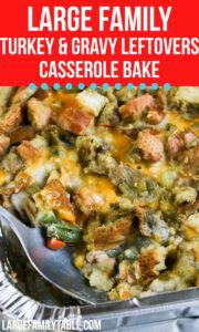 Turkey ad Gravy Leftover Casserole