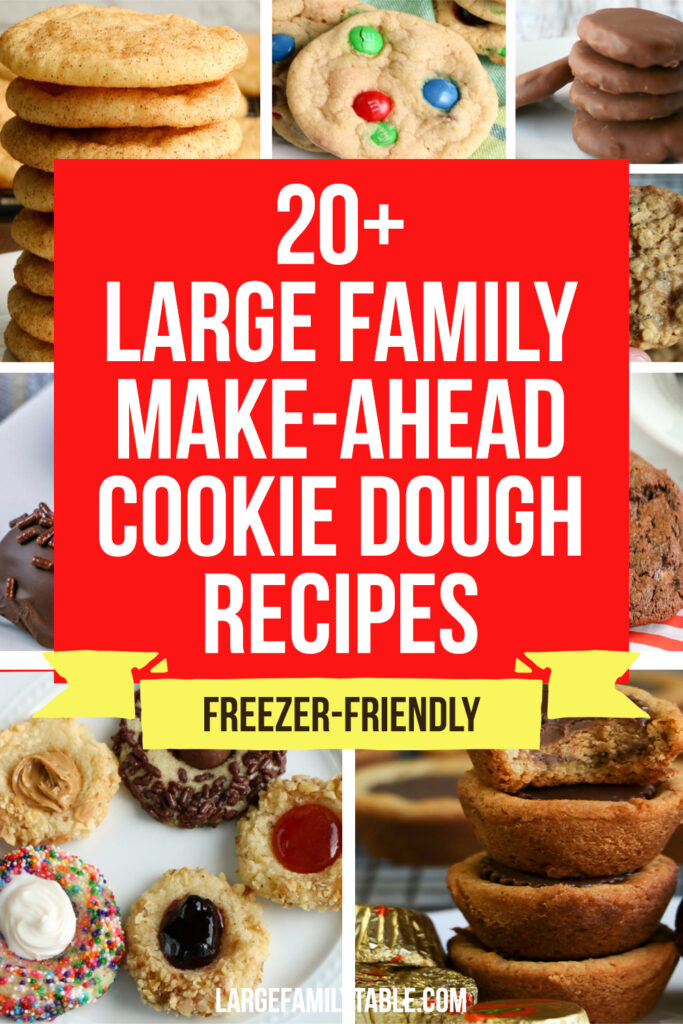 20+ Large Family Make-Ahead Cookie Dough Recipes that are Freezable!