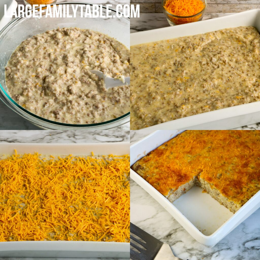 Large Family Grits and Sausage Casserole | Large Family Breakfast Ideas