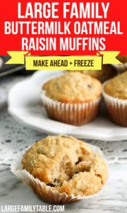 Buttermilk Oatmeal Raisin Cookies