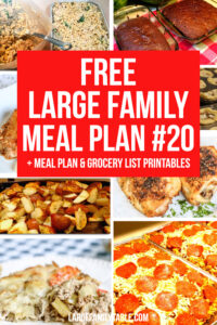 Large Family Meal Plan Week 20 + FREE Grocery List Printables | Meals on a Budget