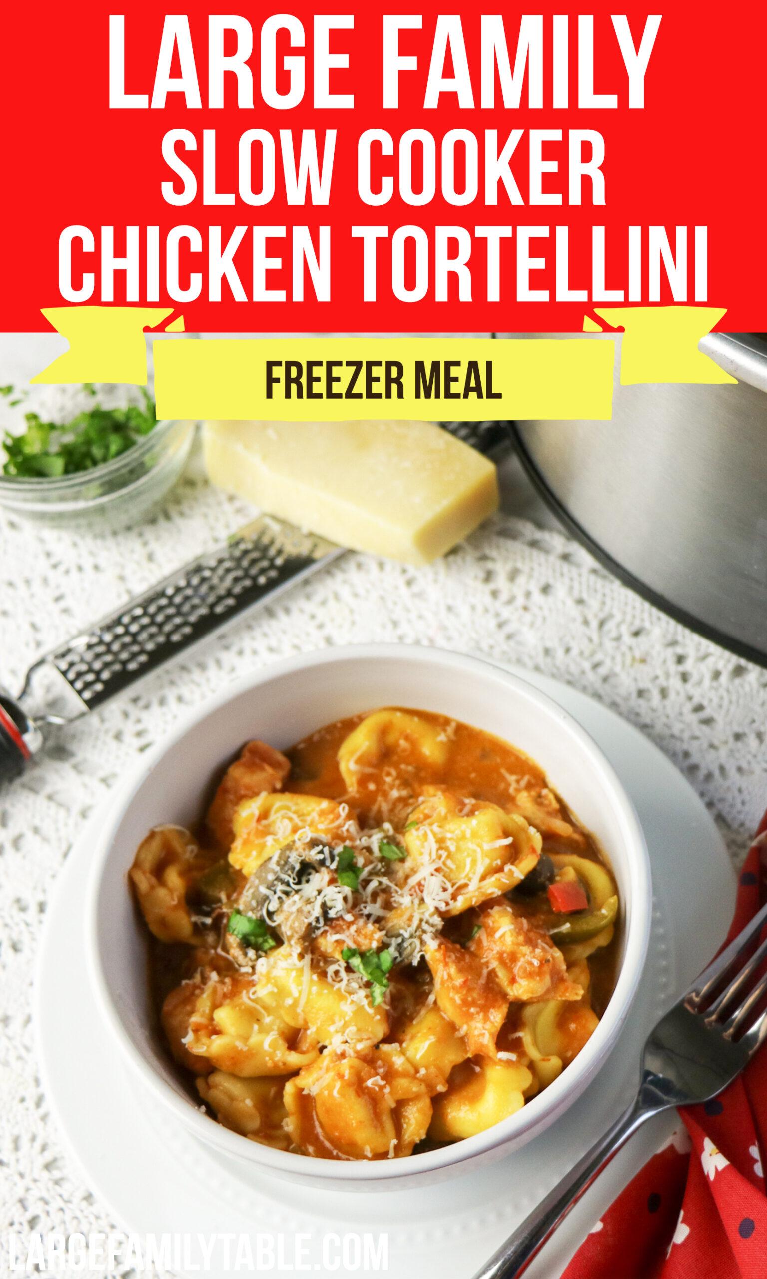 Slow Cooker Chicken Tortellini