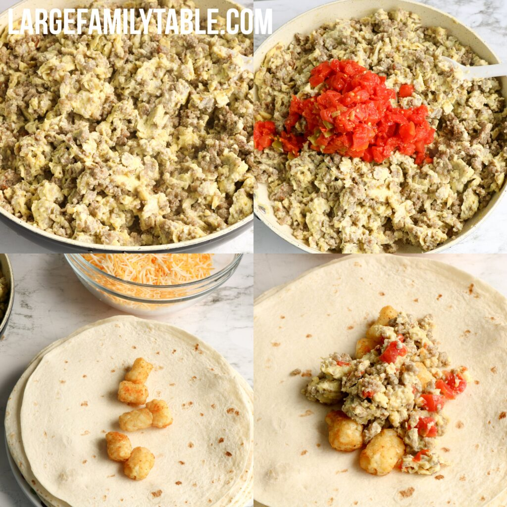 Large Family Loaded Breakfast Burritos Make-Ahead Freezer Meals!