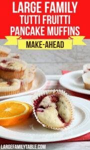Tutti Fruitti Pancake Muffins