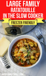 Large Family Ratatouille in the Slow Cooker
