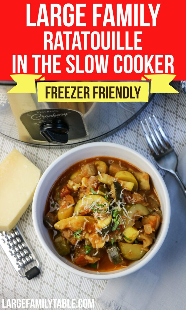 Large Family Ratatouille in the Slow Cooker (also Freezer-Friendly!), Dairy Free