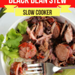 Large Family Slow Cooker Brazilian Pork and Black Bean Stew | Freezer Meals for Big Families