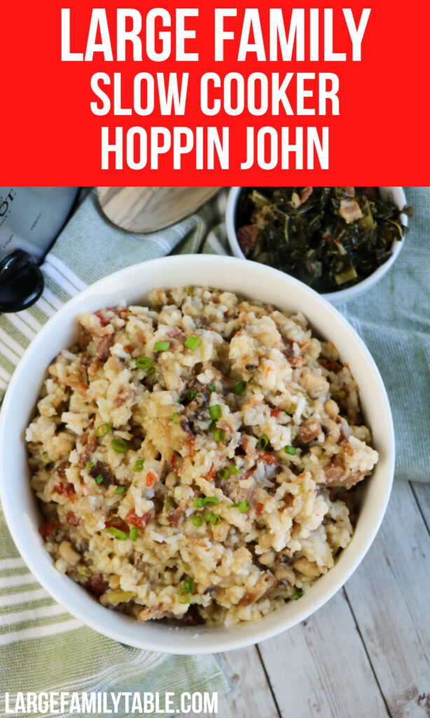 Large Family Slow Cooker Hoppin John | Big Family Meals