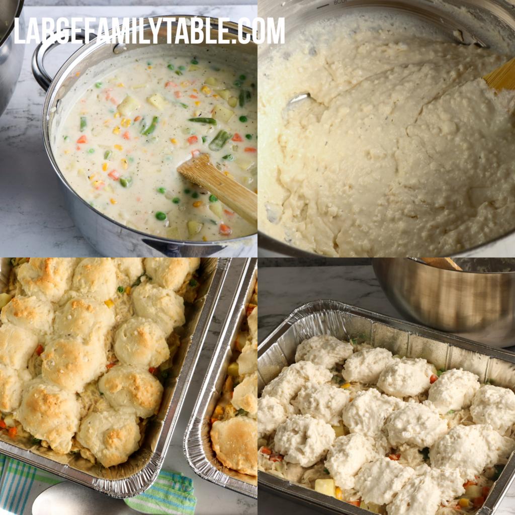 Large Family Chicken Pot Pie Casserole | Casseroles for Large Families