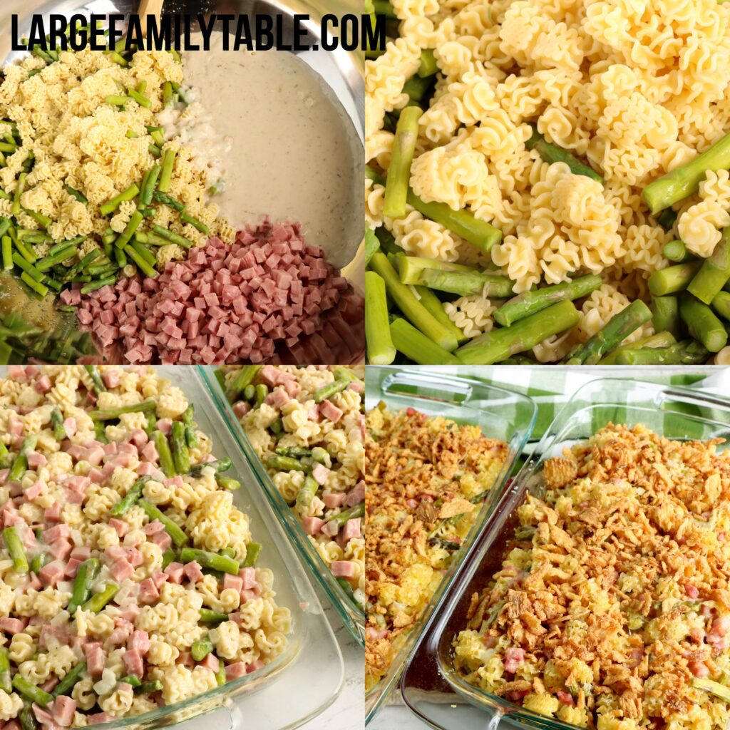 Large Family Ham and Asparagus Casserole | Big Family Dinners