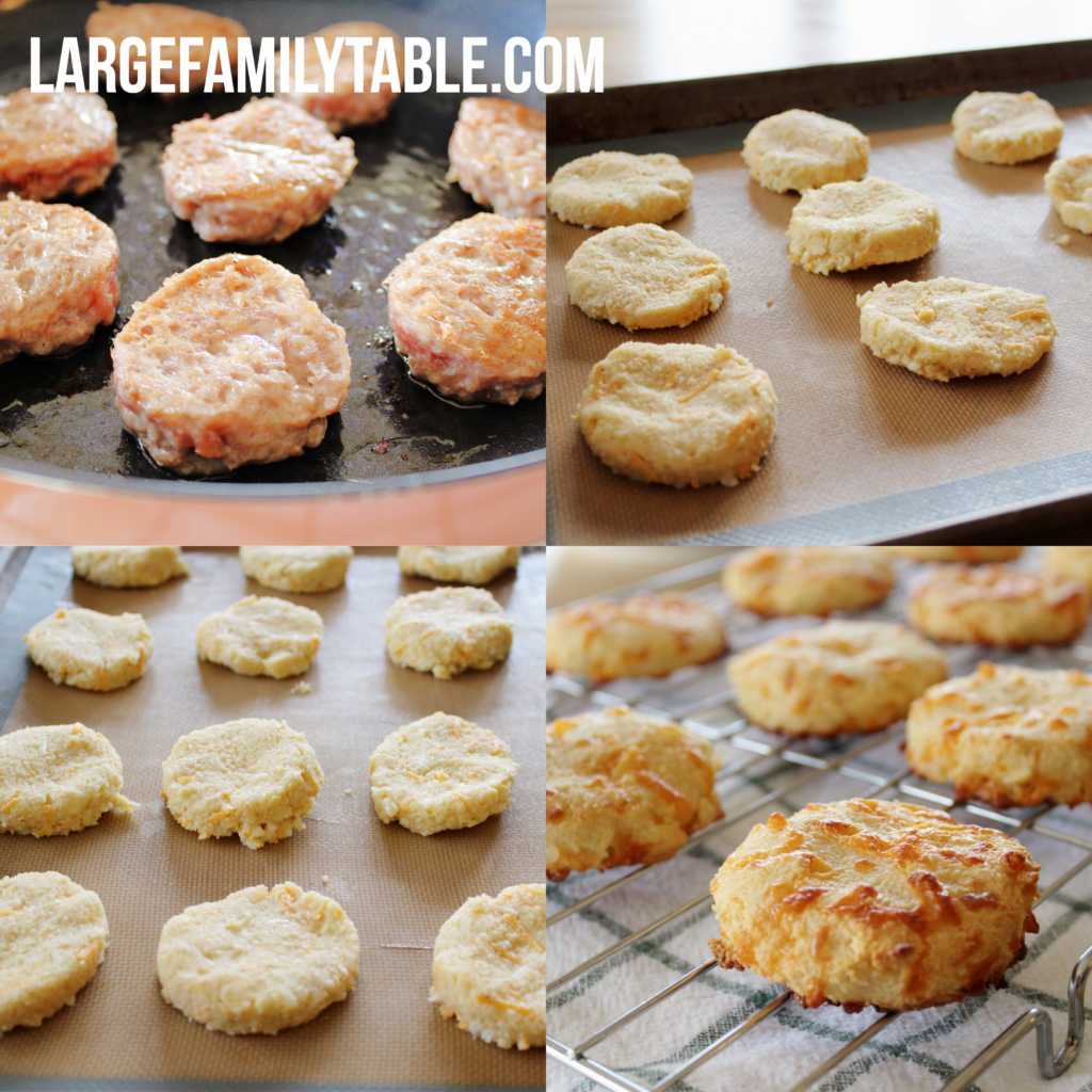 Large Family Keto Sausage Biscuits | Big Family Breakfasts, THM-S, Low Carb!