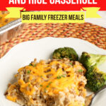 Large Family Cheesy Beef and Rice Casserole