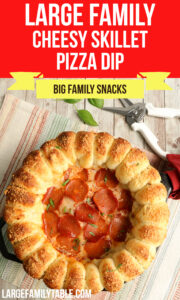 Large Family Cheesy Skillet Pizza Dip