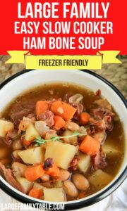 Slow Cooker Ham Bone Soup