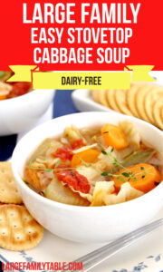 Large Family Easy Stovetop Cabbage Soup