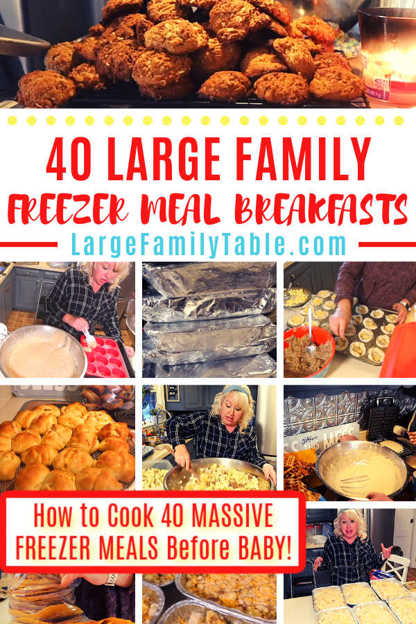 40 Large Family Freezer Meal Breakfasts | How to Cook 40 MASSIVE FREEZER MEALS Before BABY!