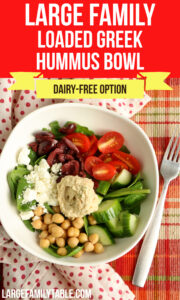 Large Family Loaded Greek Hummus Bowl