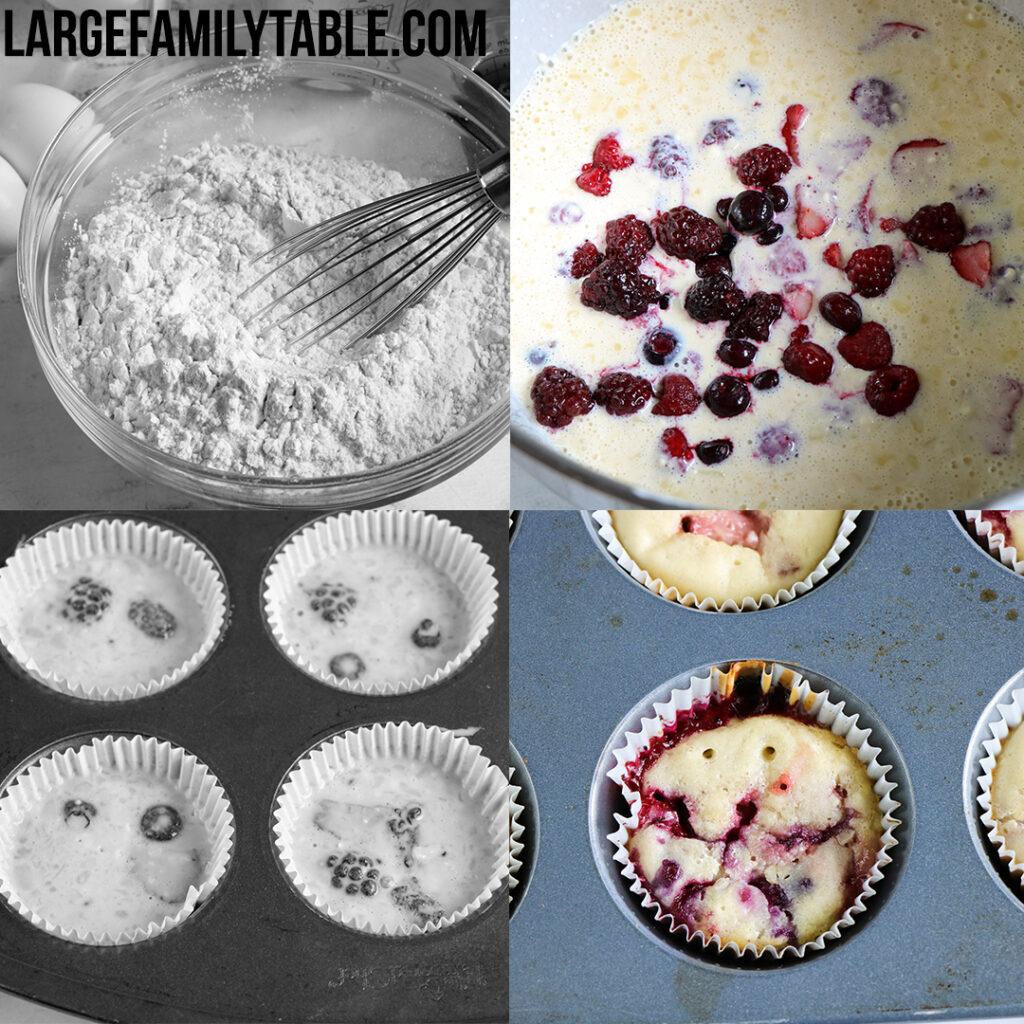 Large Family Make-Ahead Tutti Frutti Pancake Muffins | Freezer Breakfast Meals
