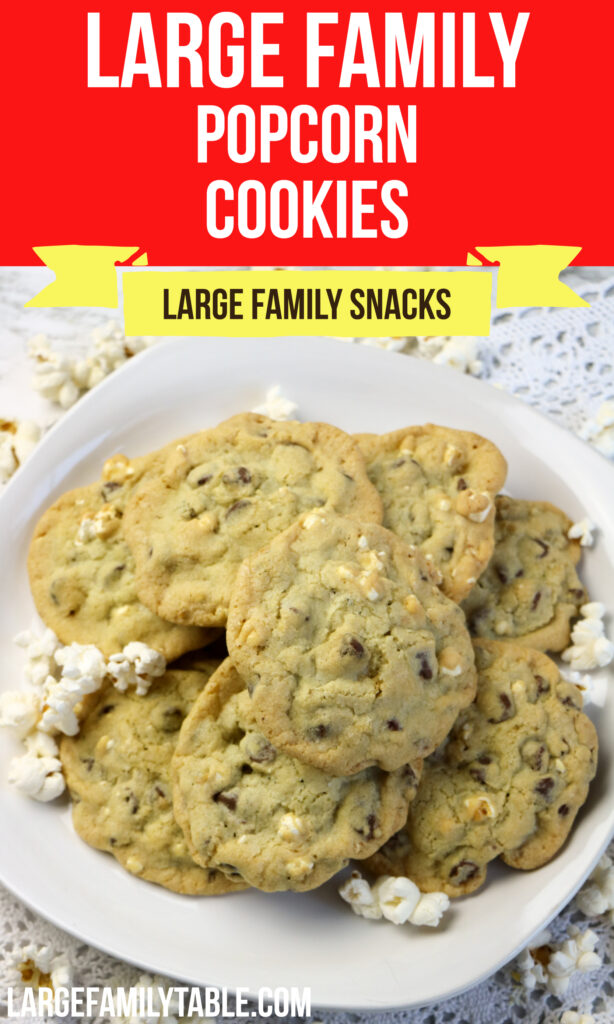 Large Family Popcorn Cookies | Large Family Snacks and Desserts