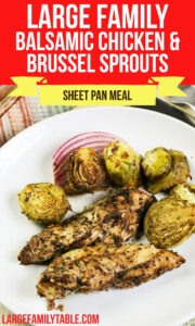 Low Carb Balsamic Chicken and Brussel Sprouts