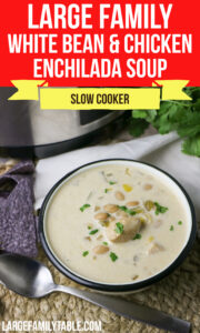 Large Family White Bean and Chicken Enchilada Soup
