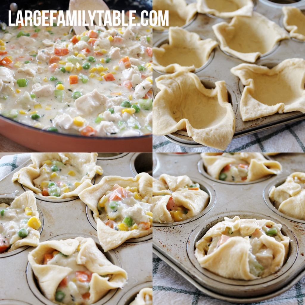 Large Family Healthy & Easy Mini Chicken Pot Pies | Make-Ahead and Freeze