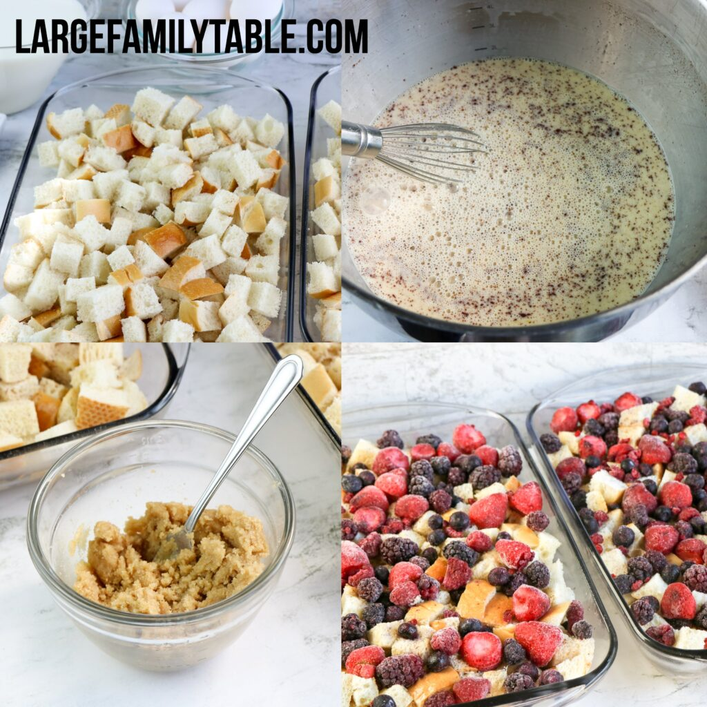 Large Family Mixed Berry French Toast for the Freezer | Make-Ahead Big Family Breakfast Freezer Meals!