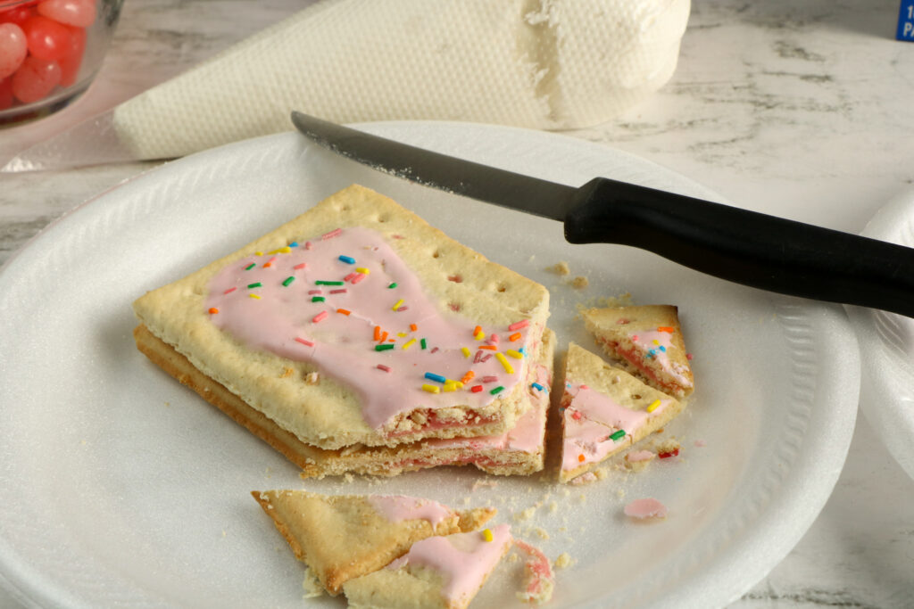 Large Family Valentine's Day Pop-Tart House | Gingerbread House Inspired Family Craft