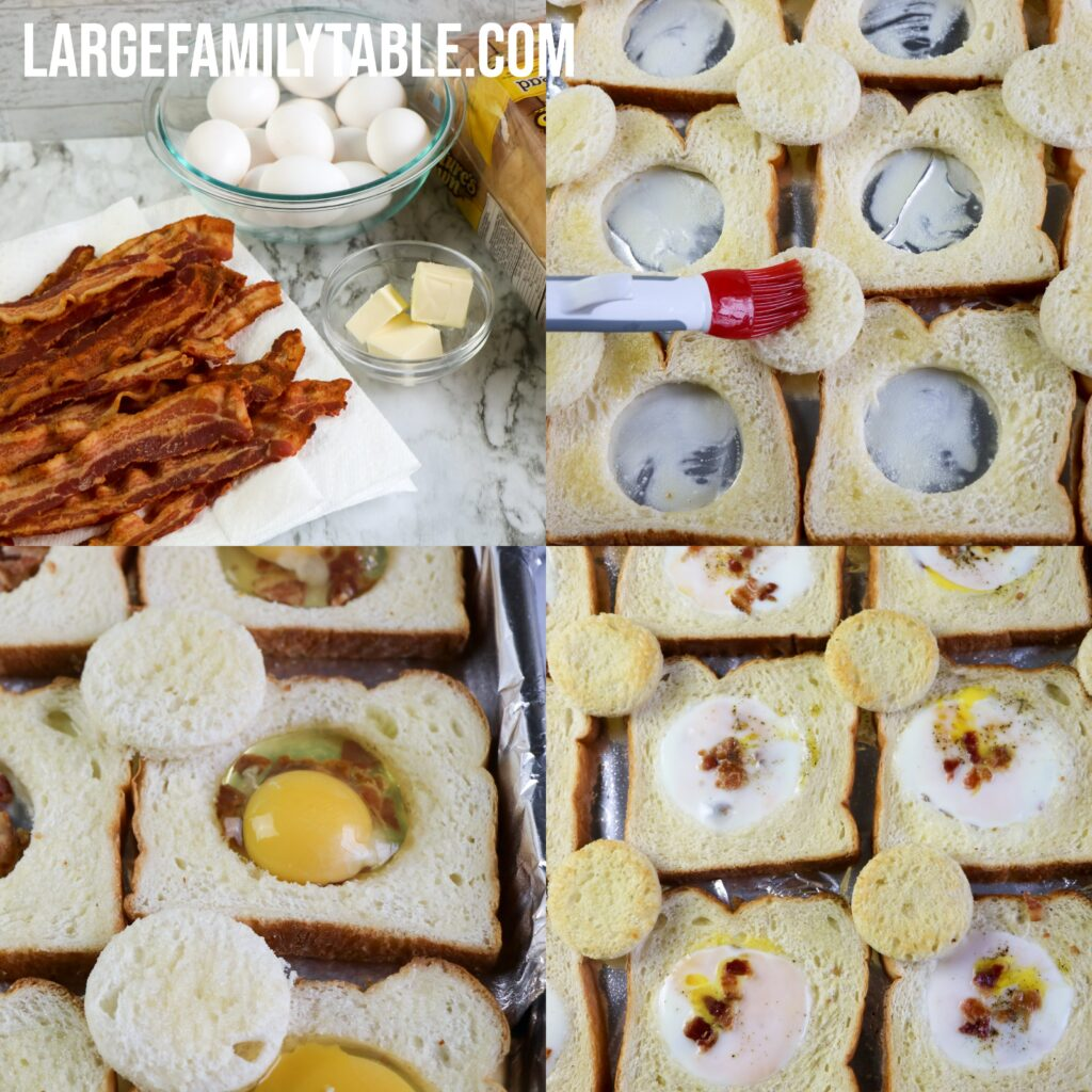 Large Family Bacon and Eggs in a Basket Sheet Pan Recipe | Dairy-Free Option