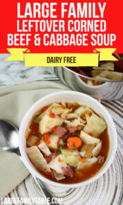 Leftover Corned Beef ad Cabbage Soup