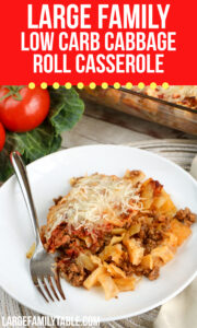 Large Family Low Carb Cabbage Roll