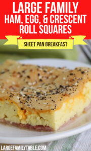 Large Family Sheet Pan Ham, Egg, and Crescent Rolls