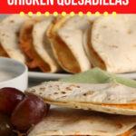 Sheet Pan Buffalo Chicken Quesadillas