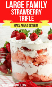 Large Family Strawberry Trifle