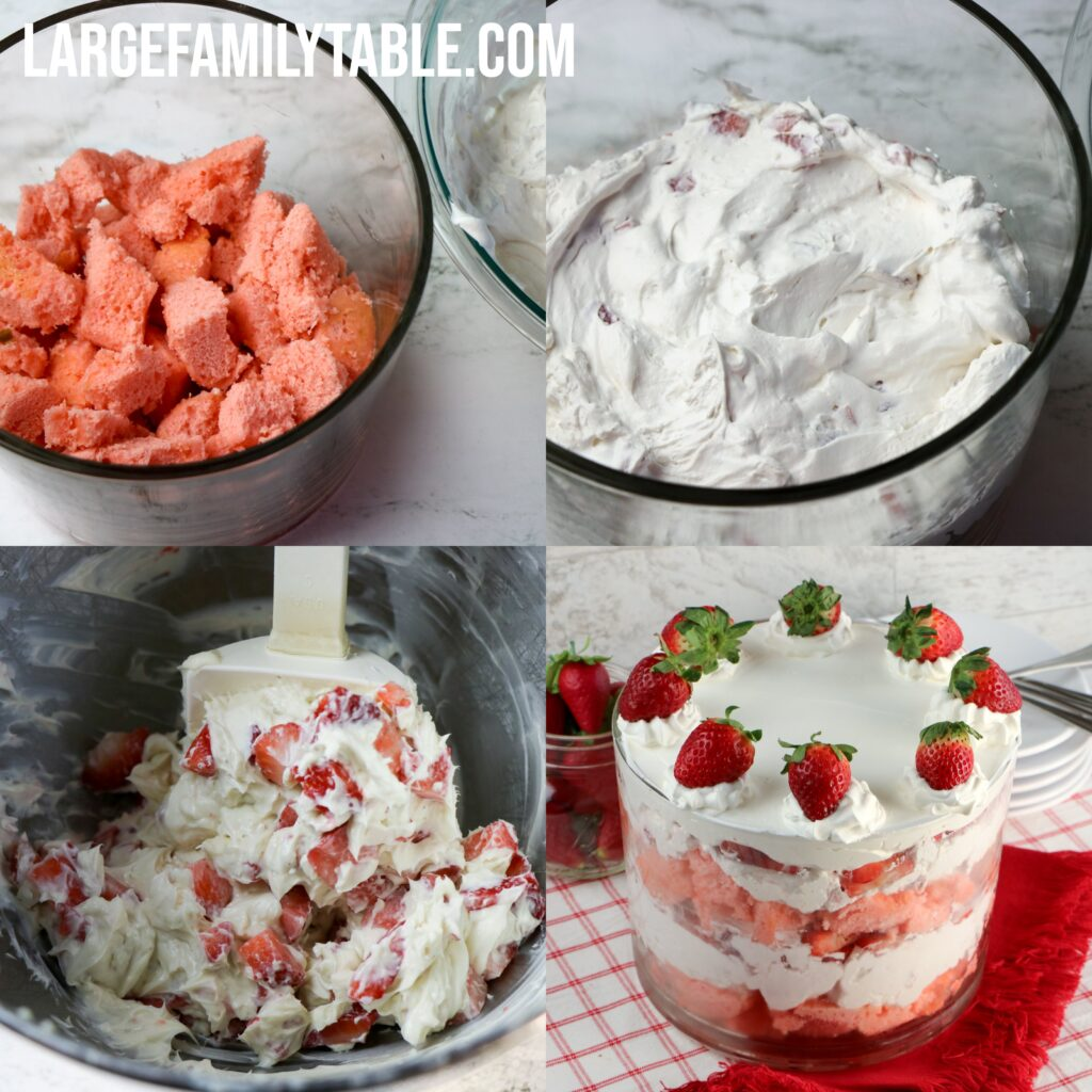 Large Family Strawberry Trifle | Make-ahead Dessert