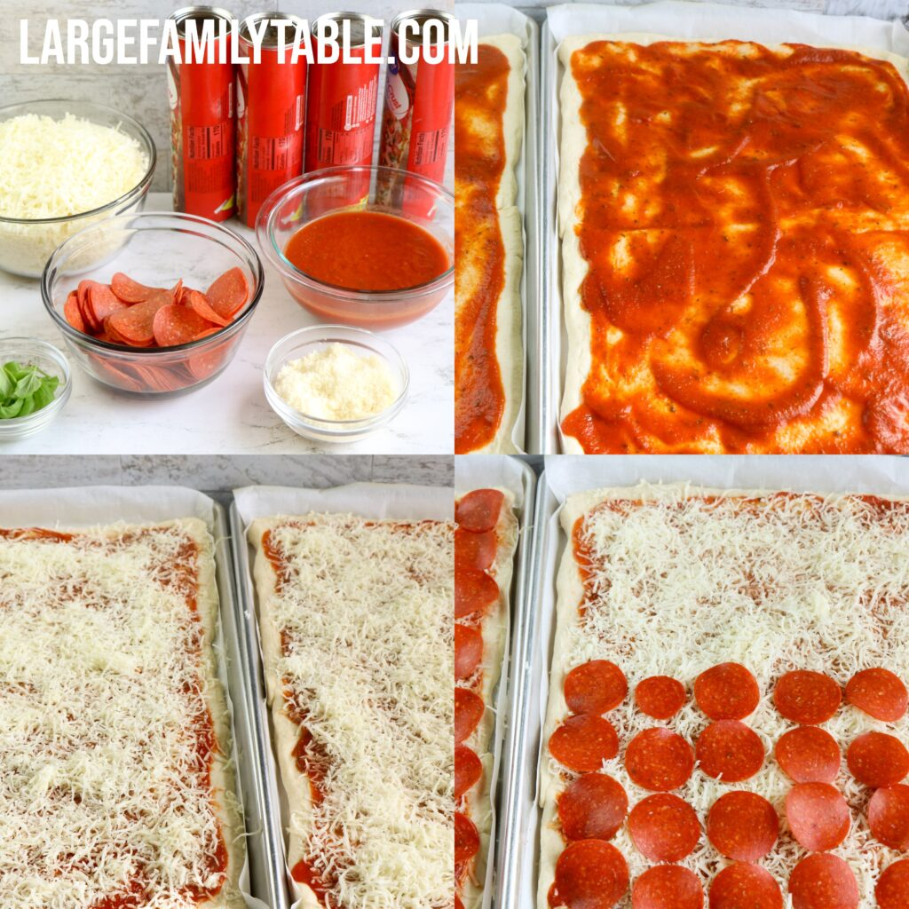 Large Family Sheet Pan Pepperoni Pizza | Big Family Pizza Night!
