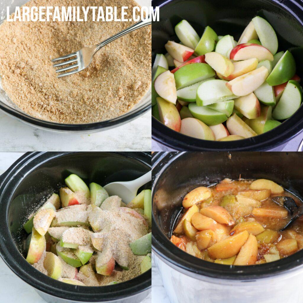 Large Family Slow Cooker Baked Apples Dessert