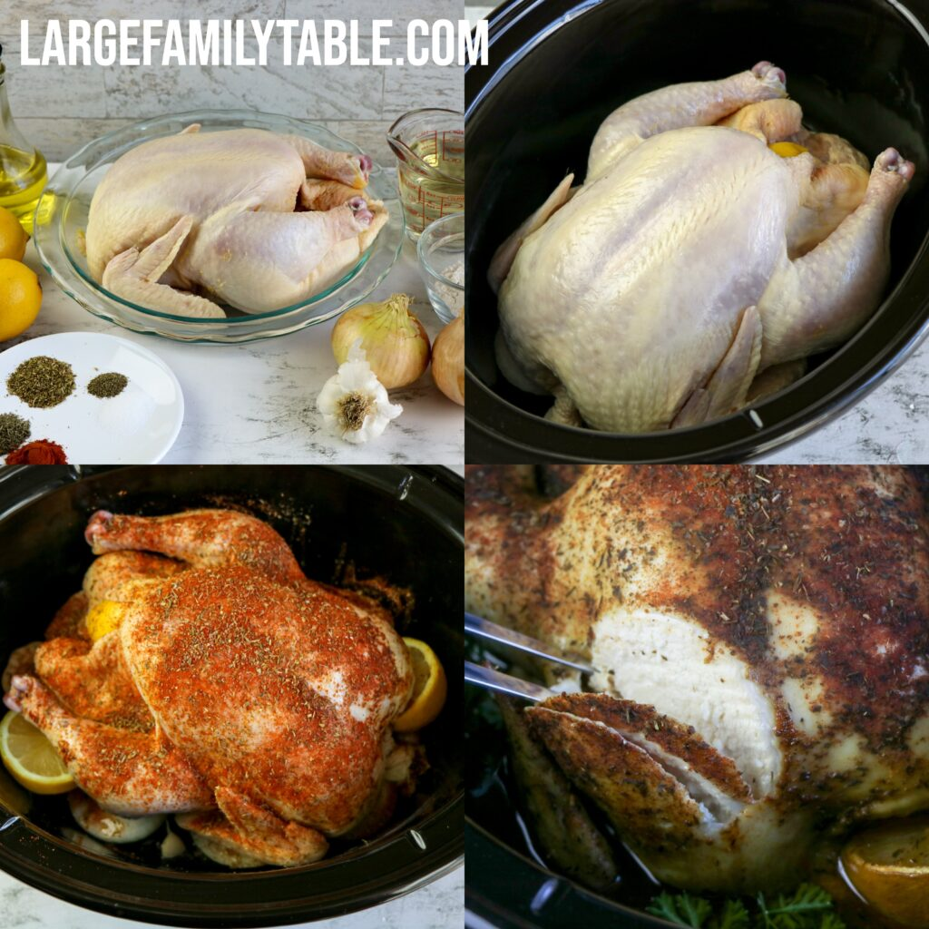 Large Family Slow Cooker Engagement Chicken with White Wine Gravy