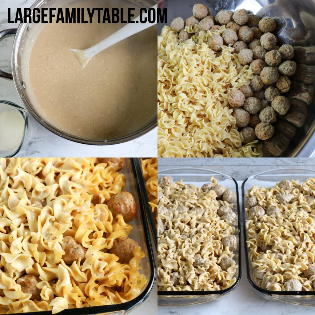 Large Family Swedish Meatball Casserole Dinner Recipe (TWO 9x13 Pans!)