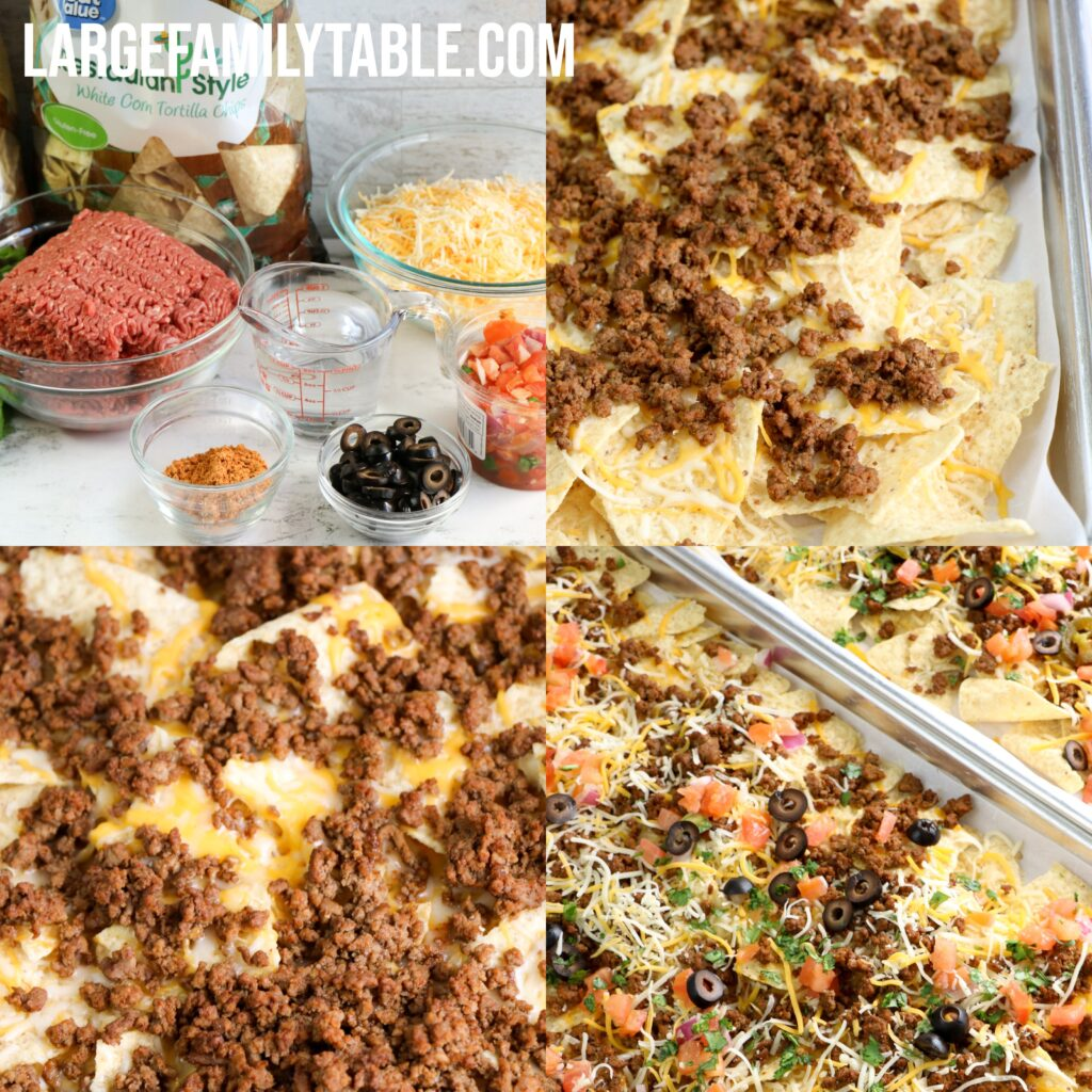 Large Family Beefy Sheet Pan Nachos | Lunch, Snack, or Dinner, Dairy-Free Option