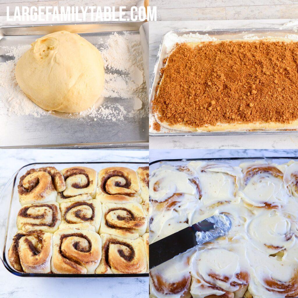 Large Family Bread Machine Cinnamon Rolls   Freezable, Make-Ahead Two 9x13!!