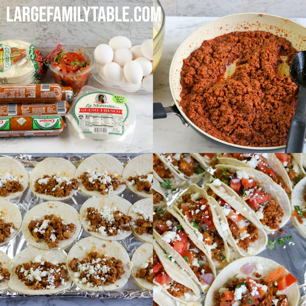 Large Family Breakfast Tacos | Sheet Pan Recipe, Dairy-Free Option