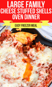 Cheese Stuffed Shells Oven Dinner