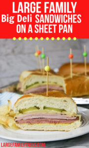 Large Family Deli Sandwiches