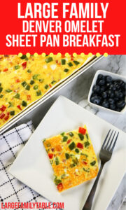 Large Family Denver Omelet Sheet Pan Breakfast
