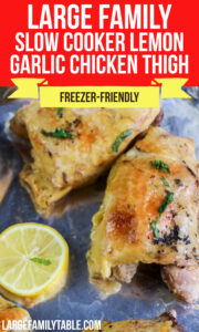 Large Family Lemon Garlic Chicken Thigh