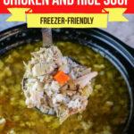 Lemon Sesame Chicken and Rice Soup