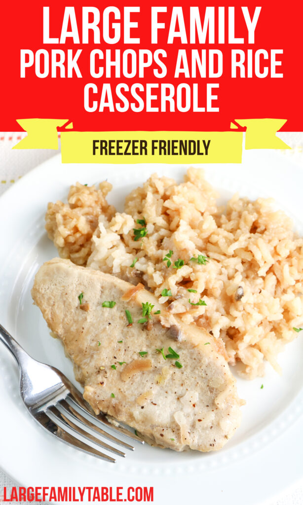Large Family Pork Chops and Rice Casserole