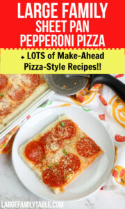 Large Family Pizza Style Recipes
