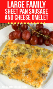 Sheet Pan Sausage and Cheese Omelet